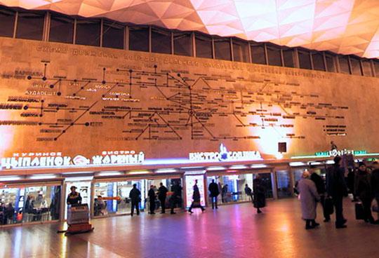 Изготовление схемы светового зала на Московском вокзале в СПб